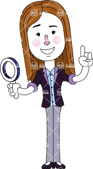 Minimalistic Business Girl Vector Character Design AKA Maryanna - Search