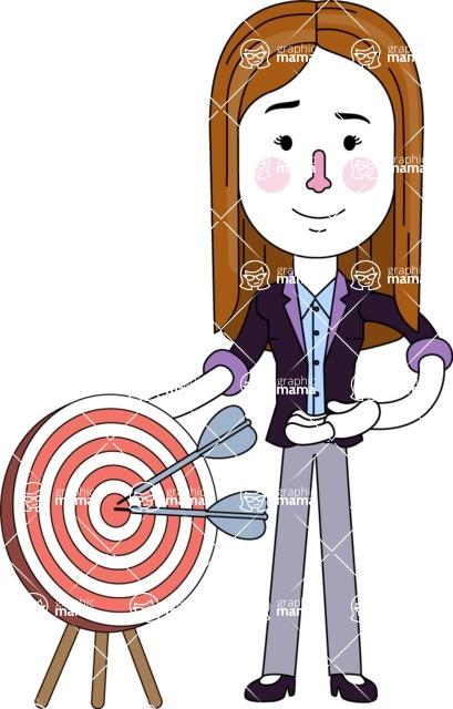 Minimalistic Business Girl Vector Character Design AKA Maryanna - Target
