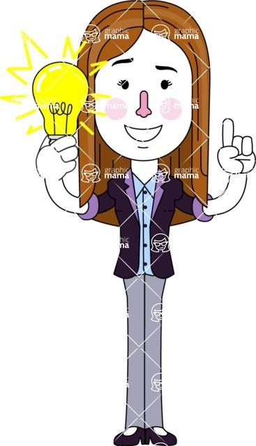 Minimalistic Business Girl Vector Character Design AKA Maryanna - Idea 1