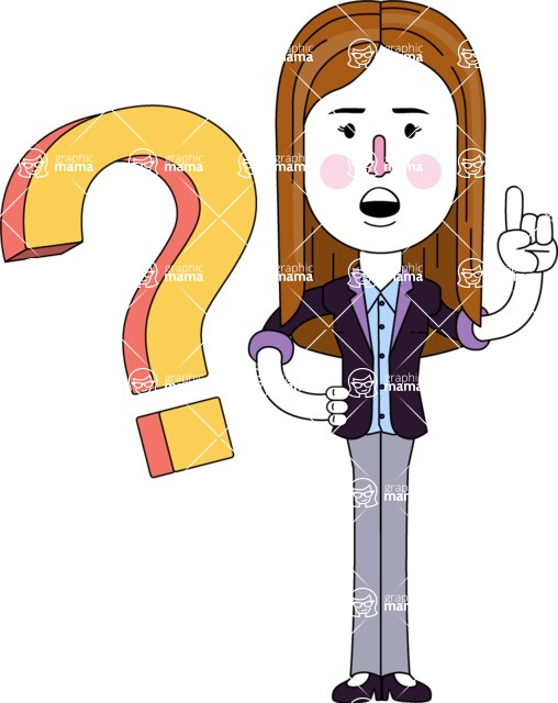 Minimalistic Business Girl Vector Character Design AKA Maryanna - Question