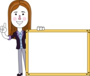 Minimalistic Business Girl Vector Character Design AKA Maryanna - Presentation 5