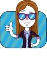 Minimalistic Business Girl Vector Character Design AKA Maryanna - Shape 2