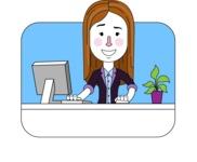 Minimalistic Business Girl Vector Character Design AKA Maryanna - Shape 11