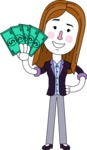 Minimalistic Business Girl Vector Character Design AKA Maryanna - Show me the Money