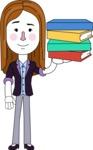 Minimalistic Business Girl Vector Character Design AKA Maryanna - Book 2
