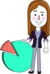 Minimalistic Business Girl Vector Character Design AKA Maryanna - Chart
