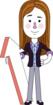 Minimalistic Business Girl Vector Character Design AKA Maryanna - Pointer 1
