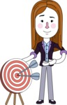 Minimalistic Business Girl Vector Character Design AKA Maryanna - Target