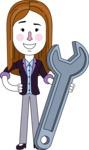 Minimalistic Business Girl Vector Character Design AKA Maryanna - Repair