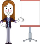 Minimalistic Business Girl Vector Character Design AKA Maryanna - Presentation 1