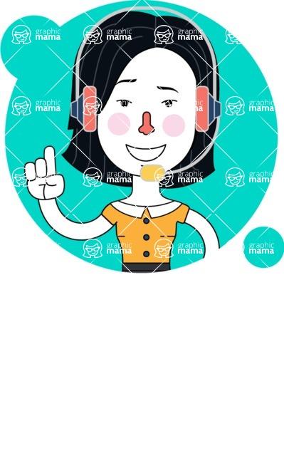 Minimalist Businesswoman Vector Character Design AKA Bethany - Shape 2