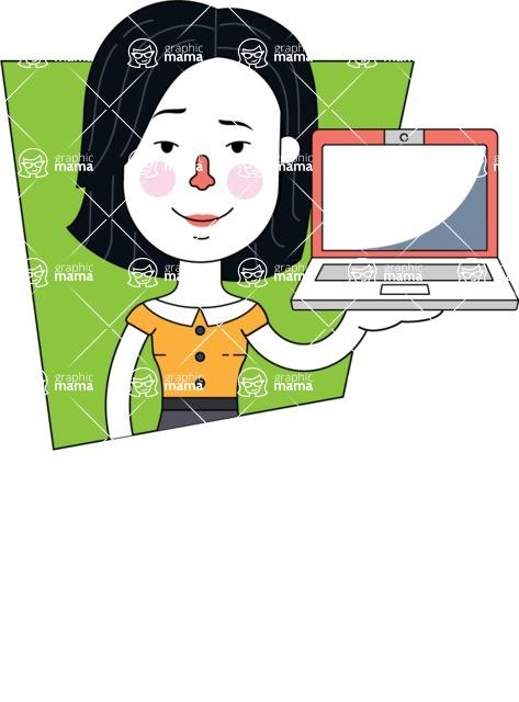Minimalist Businesswoman Vector Character Design AKA Bethany - Shape 3
