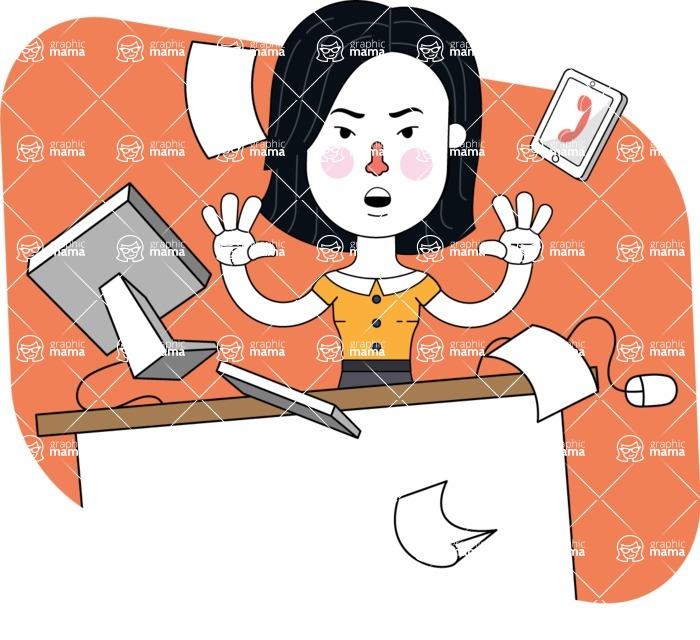 Minimalist Businesswoman Vector Character Design - Shape 4