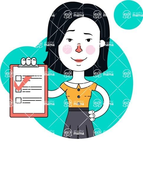 Minimalist Businesswoman Vector Character Design - Shape 8