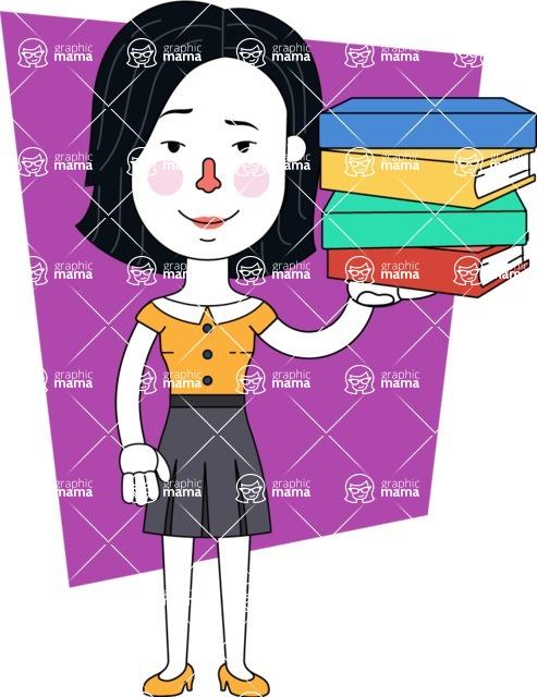 Minimalist Businesswoman Vector Character Design - Shape 10