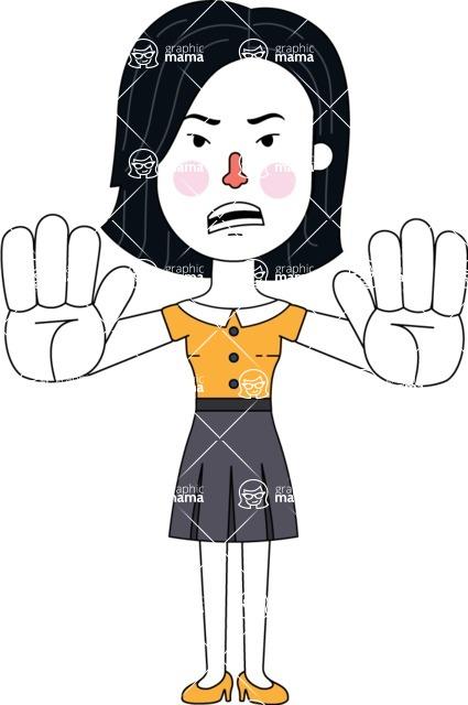 Minimalist Businesswoman Vector Character Design - Stop 2