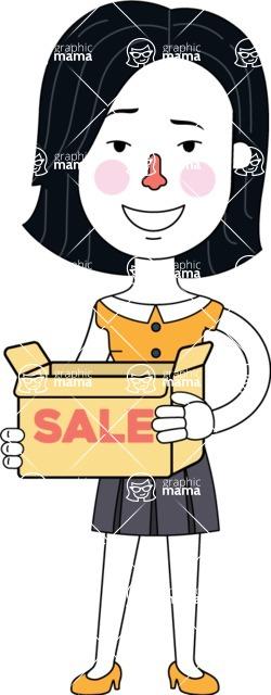 Minimalist Businesswoman Vector Character Design AKA Bethany - Sale