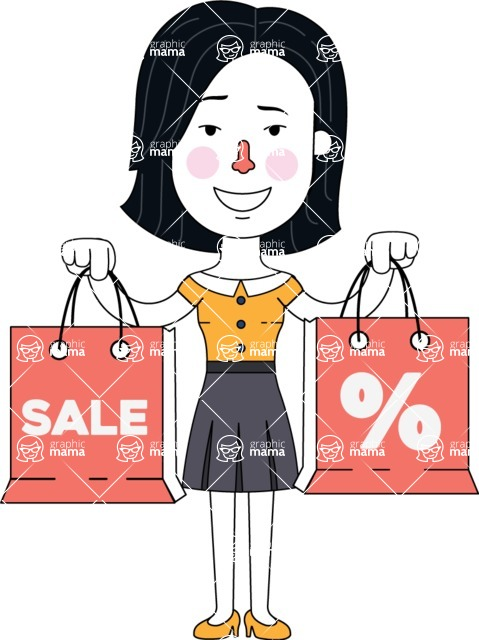 Minimalist Businesswoman Vector Character Design - Sale2