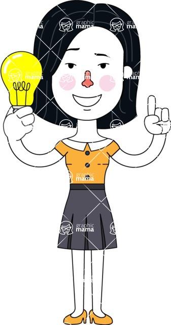Minimalist Businesswoman Vector Character Design - Idea 1