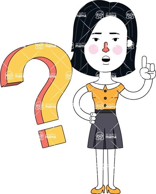 Minimalist Businesswoman Vector Character Design - Question