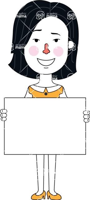 Minimalist Businesswoman Vector Character Design - Sign 5