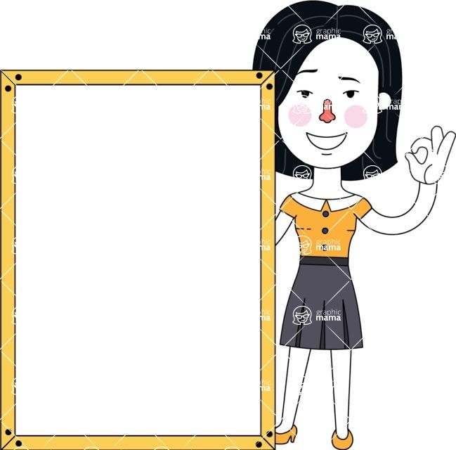 Minimalist Businesswoman Vector Character Design - Presentation 4
