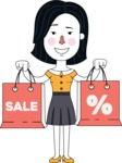 Minimalist Businesswoman Vector Character Design - Sale2