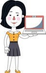Minimalist Businesswoman Vector Character Design - Laptop 2
