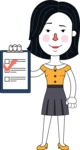 Minimalist Businesswoman Vector Character Design - Notepad 3