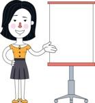Minimalist Businesswoman Vector Character Design AKA Bethany - Presentation 1