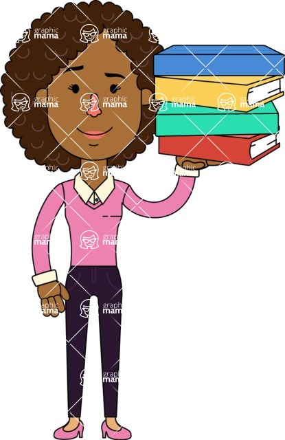 Minimalistic African American Girl Vector Character Design AKA Liana - Book 2