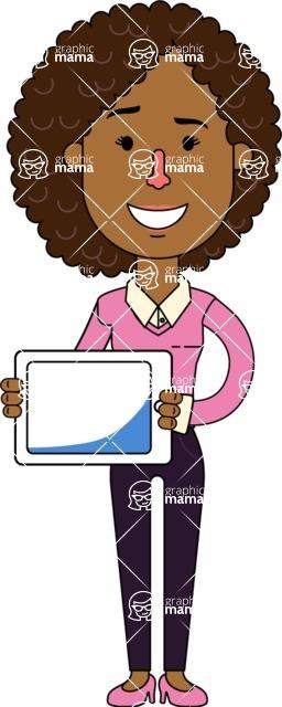 Minimalistic African American Girl Vector Character Design AKA Liana - iPad 2