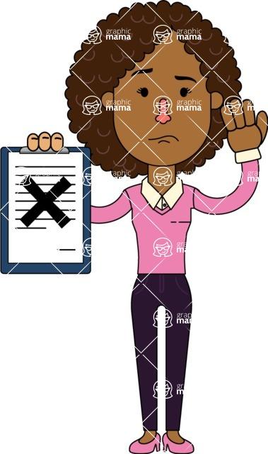 Minimalistic African American Girl Vector Character Design AKA Liana - Notepad 4