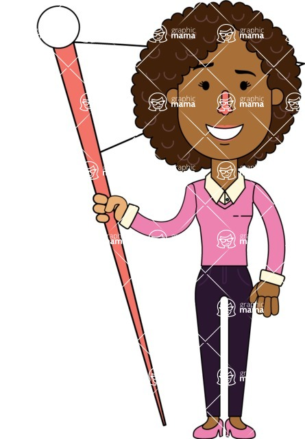 Minimalistic African American Girl Vector Character Design AKA Liana - Checkpoint