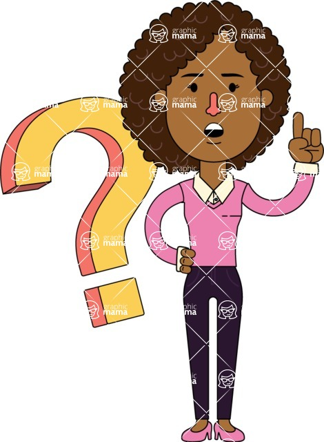 Minimalistic African American Girl Vector Character Design AKA Liana - Question