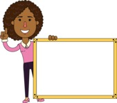 Minimalistic African American Girl Vector Character Design AKA Liana - Presentation 5