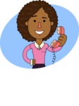 Minimalistic African American Girl Vector Character Design AKA Liana - Shape 1