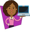 Minimalistic African American Girl Vector Character Design AKA Liana - Shape 3