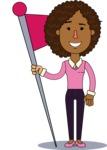 Minimalistic African American Girl Vector Character Design AKA Liana - Shape 7