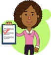 Minimalistic African American Girl Vector Character Design AKA Liana - Shape 8