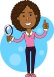 Minimalistic African American Girl Vector Character Design AKA Liana - Shape 10