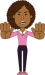 Minimalistic African American Girl Vector Character Design AKA Liana - Stop 2