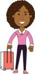 Minimalistic African American Girl Vector Character Design AKA Liana - Travel 1