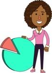 Minimalistic African American Girl Vector Character Design AKA Liana - Chart
