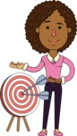 Minimalistic African American Girl Vector Character Design AKA Liana - Target