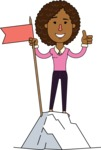 Minimalistic African American Girl Vector Character Design AKA Liana - On Top