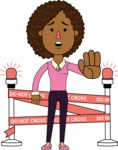 Minimalistic African American Girl Vector Character Design AKA Liana - Under Construction 2