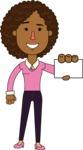 Minimalistic African American Girl Vector Character Design AKA Liana - Sign 1