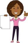 Minimalistic African American Girl Vector Character Design AKA Liana - Sign 2