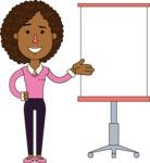 Minimalistic African American Girl Vector Character Design AKA Liana - Presentation 1